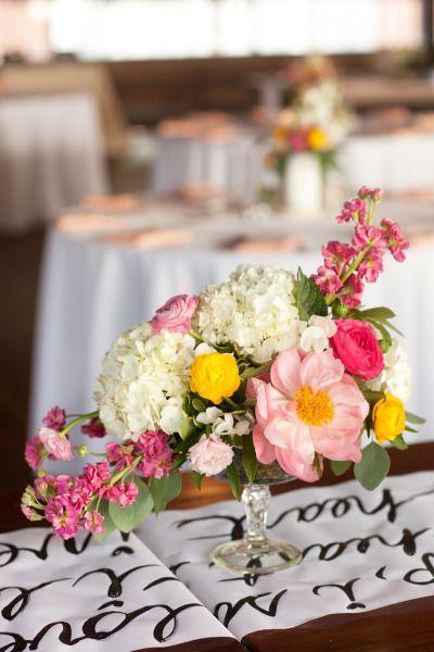 Bright wedding flowers: http://www.stylemepretty.com/2014/11/05/bright-and-elegant-atlanta-wedding/ | Photography: Love Like Weddings - http://www.lovelikeweddings.com/