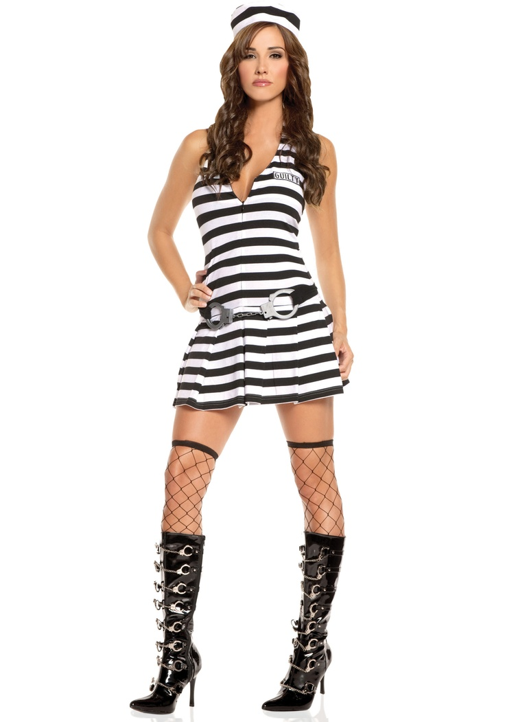 Sexy Guilty Inmate Costume - Prisoners of Love: maybe a little bit of glitter spray to give it that Broadway je ne sais quois?