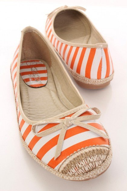 Orange Creamsicle Summer Flats
