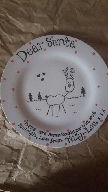 Christmas painted plate