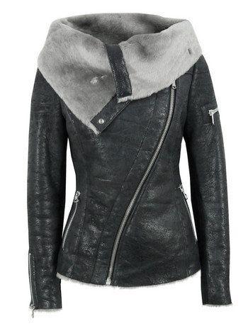 $1239 Ash Arnelle Black Leather Biker Jacket at Coggles.com