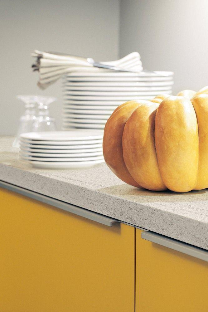 9 best Gelbe Küchen images on Pinterest Yellow kitchens - arbeitsplatte küche verbinden