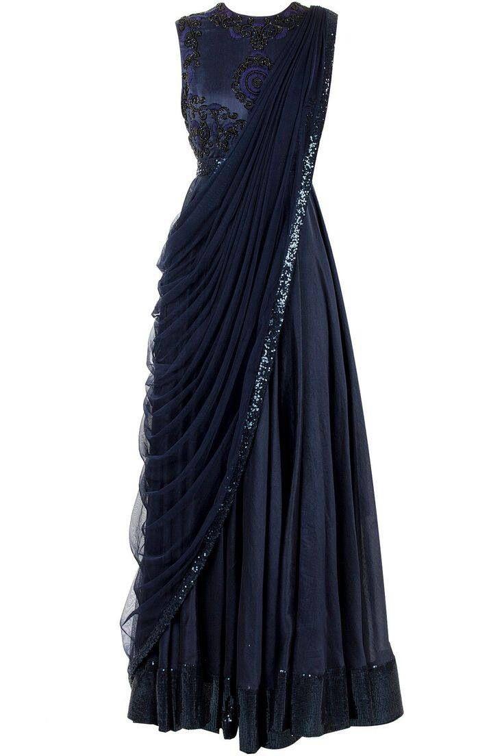 Sari style gown