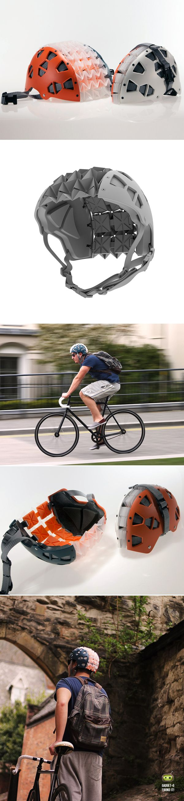 Collapsible Cycling Helmet | by Michael Rose