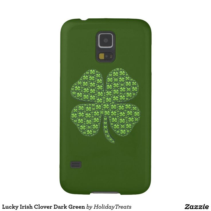 Lucky Irish Clover Dark Green Galaxy S5 Cover