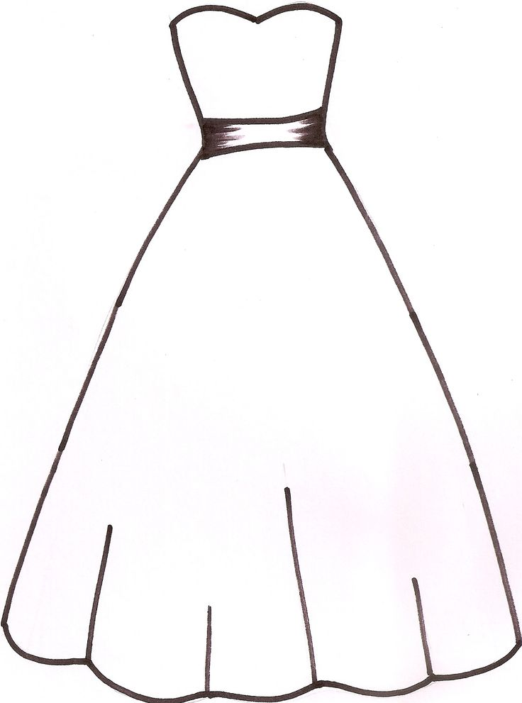 Wedding Dress Template - I drew this template at the request of CC user milknhoney. Thought it might be of use to someone else too.