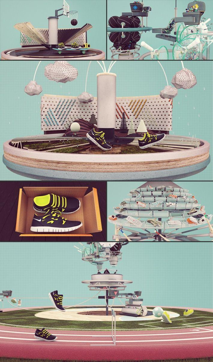 Nike Reuse-a-Shoe second image - 3D Typography Design Modelling