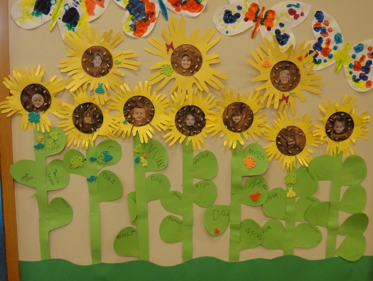 To make these cute 4ft tall sunflowers Children painted a small paper plate brown : paper plate sunflower - pezcame.com