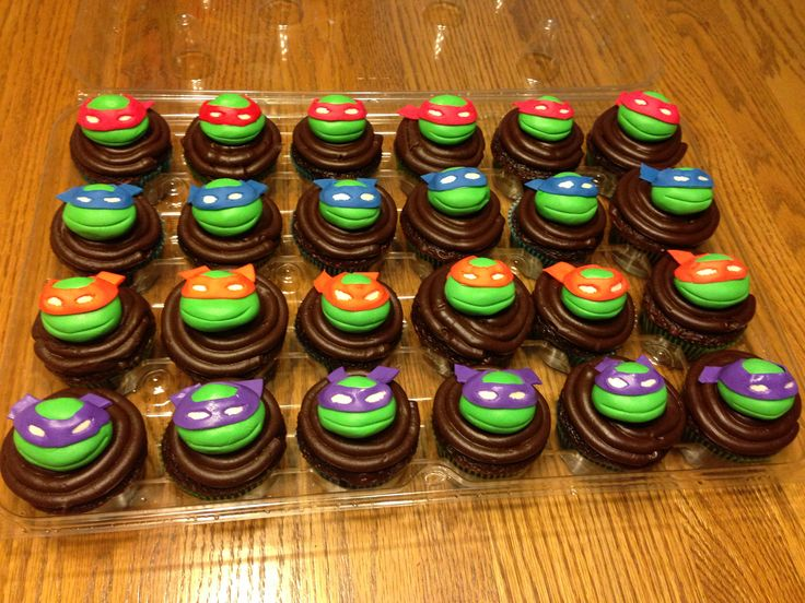 Teenage Mutant Ninja Turtle Cupcakes For Brads School