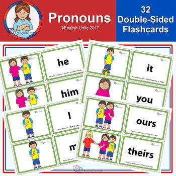 Flashcards Pronouns ESL Teaching They Them Pronouns
