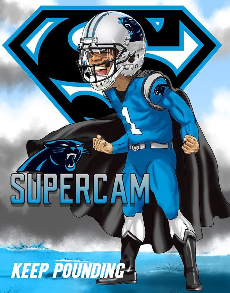 Cam Newton QB of Carolina Panthers as SUPERCAM or CaMVP