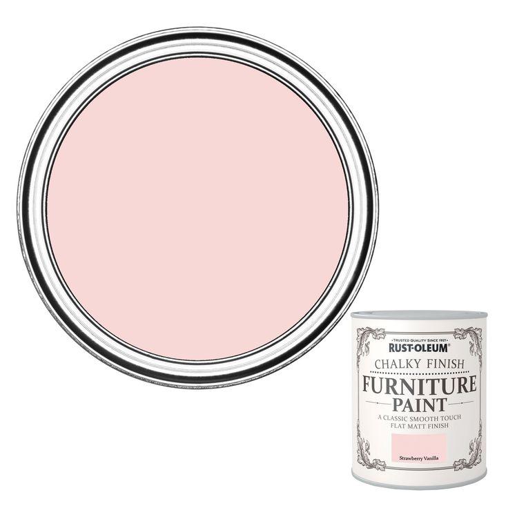 Rust-Oleum Chalky Finish Strawberry Vanilla Furniture Paint 750ml | Departments | DIY at B&Q