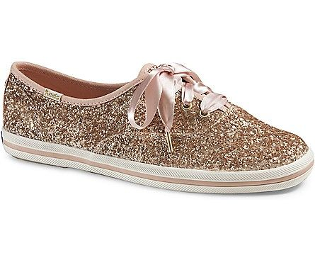 Keds x kate spade new york Champion Glitter, Rose Gold Glitter // So Christmas is coming up...
