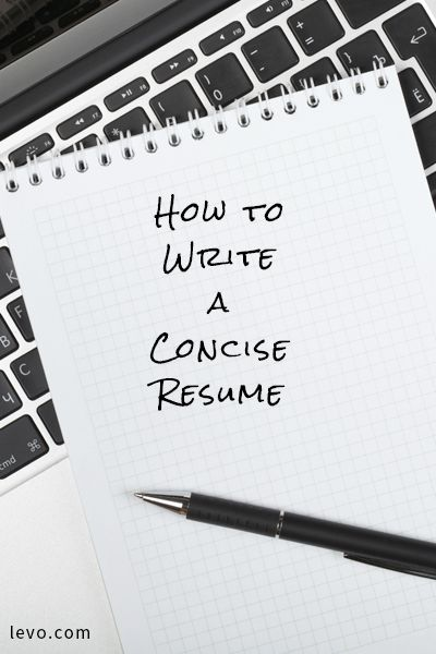 how to write a concise resume