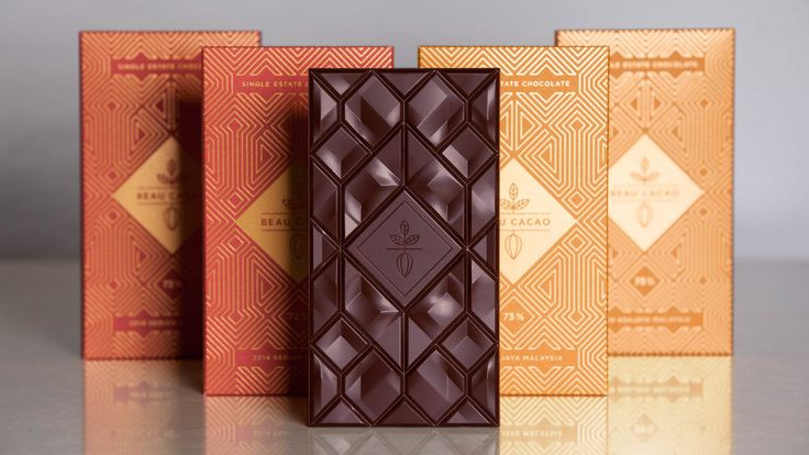 Custom chocolate bar mould design for Beau Cacao, a London based bean to bar chocolate company.