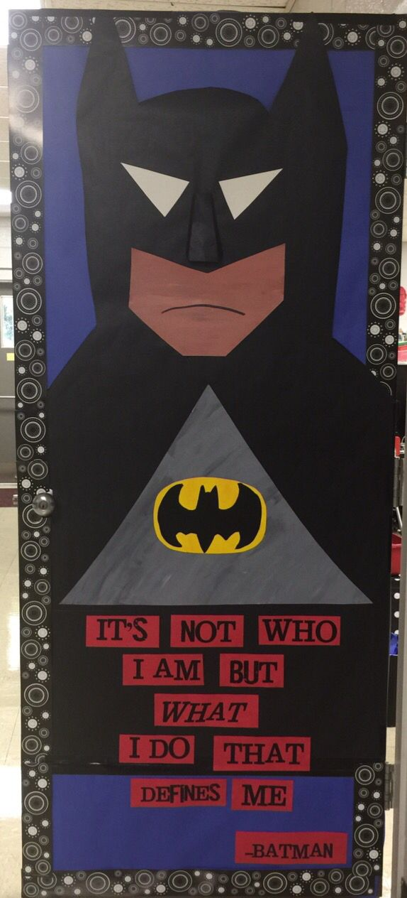 Superhero Batman door
