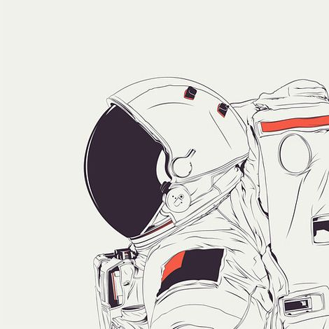astronaut space suit drawing - photo #39