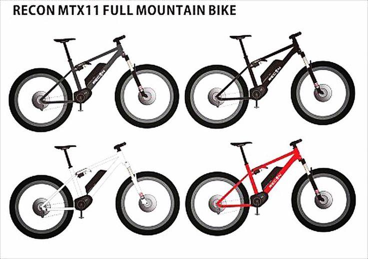 Recon x11 full mountainbike design image #mountainbike #fatbike #산악자전거  #bicycle #자전거 #전기자전거 #middriver  #bike #ebike