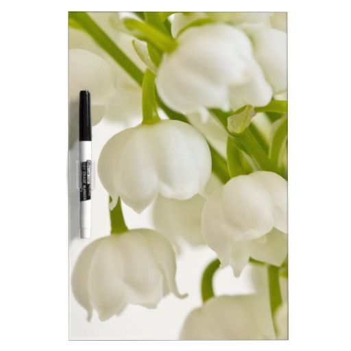 White Lilies Dry-Erase Whiteboards