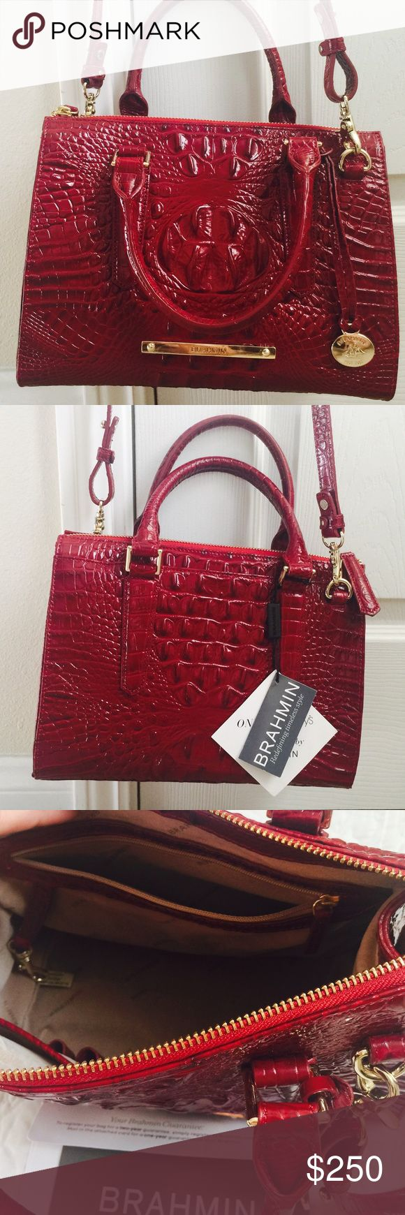 Brahmin Anywhere medium satchel Brand new with tag. Color: carmine red.               10L x 8H x 5D. No trades  Brahmin Bags Satchels