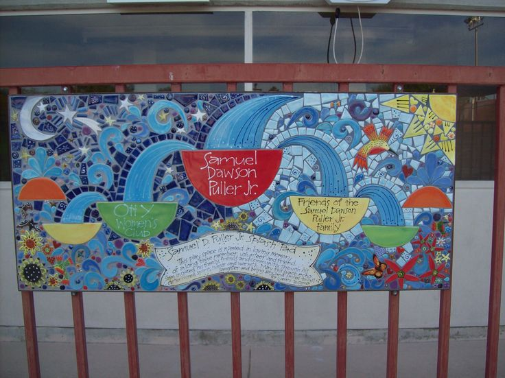 8 best images about memorial benches and tile murals by for Custom mosaic tile mural