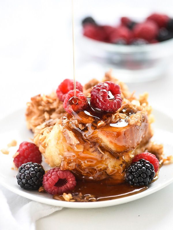 Good Morning Sunshine Recipe : Coconut baked french toast with oatmeal crumble recipe