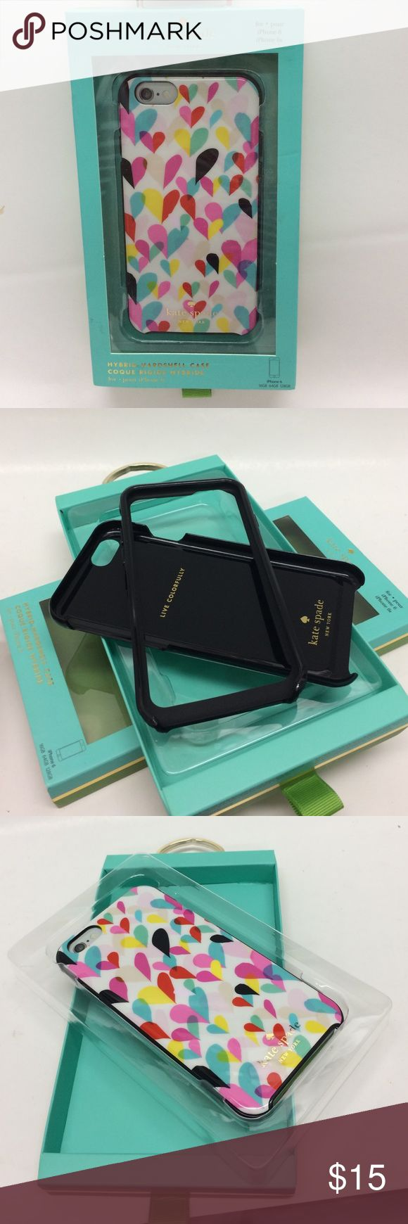 Kate Spade Hybrid IPhone 6/6s Case 12160 Kate Spade Hybrid IPhone 6/6s Case With Colorful Heart Design 12160 kate spade Accessories Phone Cases