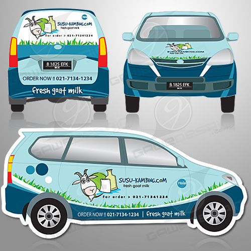 Car Branding of Fresh Goat Milk //Desain