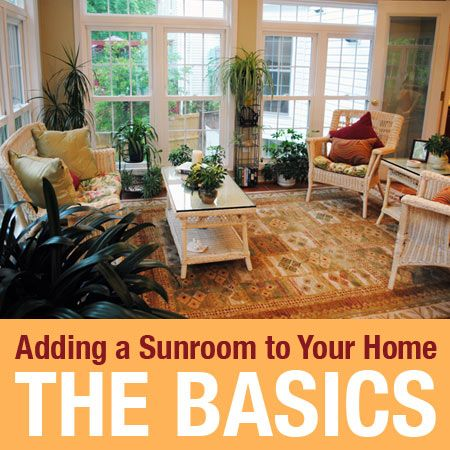 Adding A Sunroom To Your Home: The Basics. Learn What A Typical Sunroom  Addition