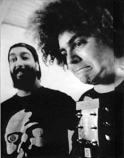 Soundgarden's Kim Thayil prostrates himself at the altar of the Melvins' Buzz Osbourne