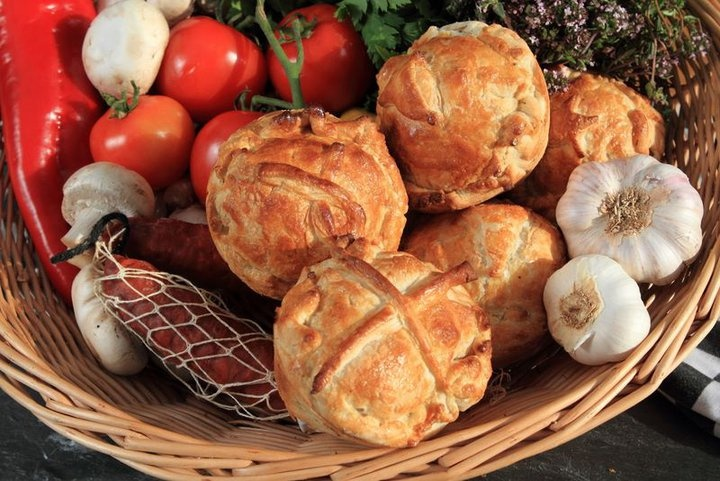 Roasted Root Veg Pie with Ardsallagh Goats Cheese by Unas Pies