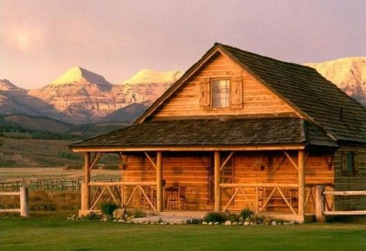 Cabin: Wyoming Ranch, Dreams Cabins, Dreams Home, Dreams Houses, Country Cabins, Logs Cabins Home, Great View, Cabins Fever, Rustic Logs Cabins