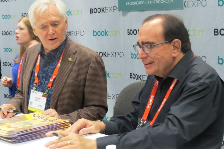 Author Marc Brown and R. L. Stine at BookExpo 2017 in New York City