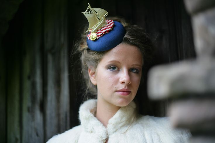 Hello Sailor! Nautical Fascinator. http://www.theheadmistressboutique.com/ https://www.etsy.com/uk/shop/headmistressboutique?ref=si_shop