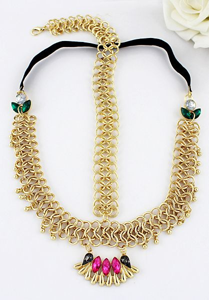 Shop Red Gemstone Gold Chain Hair Accessories online. Sheinside offers Red Gemstone Gold Chain Hair Accessories & more to fit your fashionable needs. Free Shipping Worldwide!
