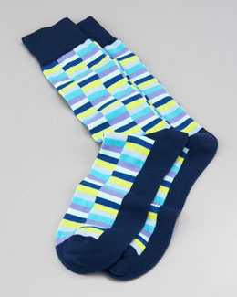 M053E Arthur George by Robert Kardashian Mini-Rectangle Men's Socks, Navy  REALLY WANT!!!!!