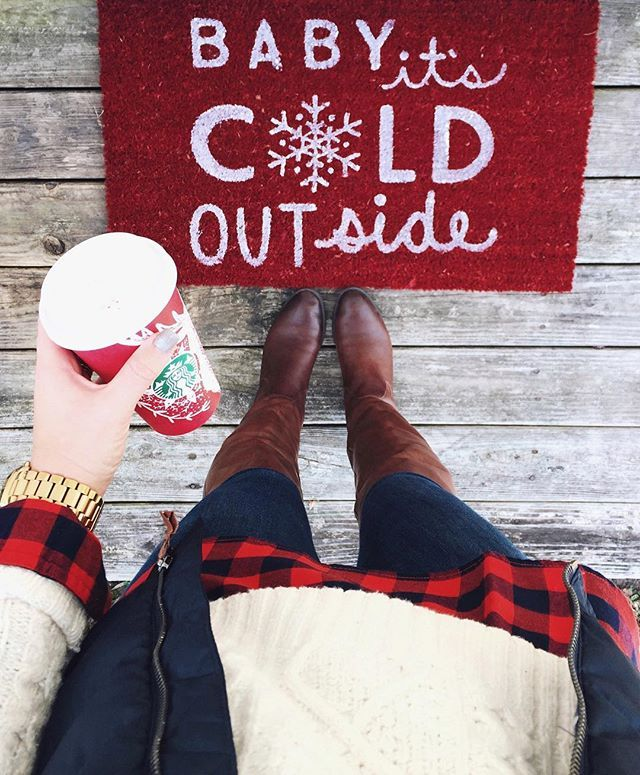 baby it's cold outside doormat.