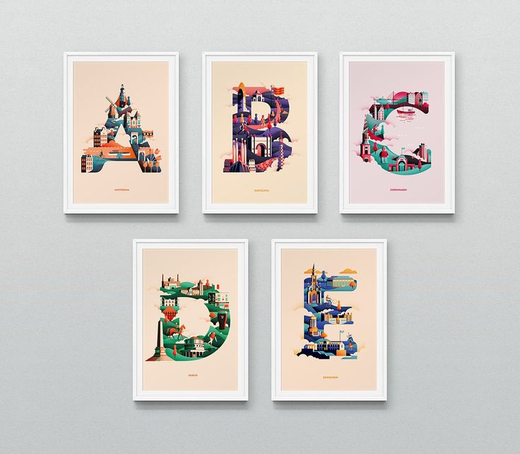 See how many landmarks and cultural icons you can spot in Jack Daly's beautiful alphabetic illustrations of famous cities he has visited, or is hoping to visit.