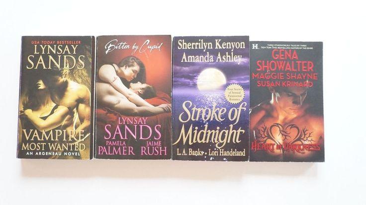 4 books Paranormal Romance Lynsay Sands Sherilyn Kenyon Maggie Shayne Showalter #books #Paranormal #Romance #Lynsay #Sands #Sherilyn #Kenyon #Maggie #Shayne #Showalter #vampires #fiction