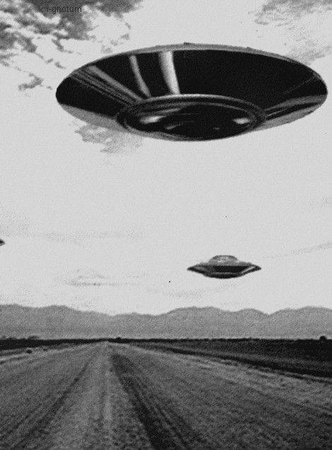 Flying saucers.