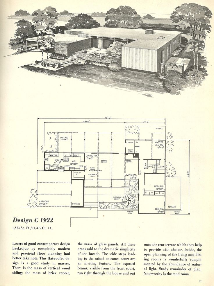 vintage house plans 1960s homes mid century homes mud room