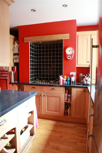 My lovely black and red kitchen