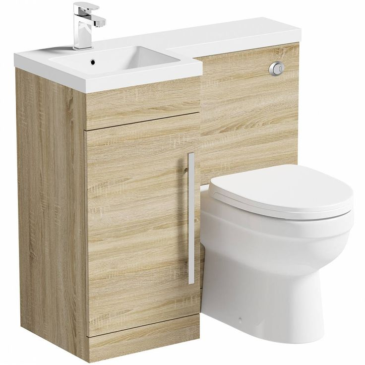 Small Back To Wall Bath Part - 50: MySpace Oak Left Handed Unit With Eden Back To Wall Toilet