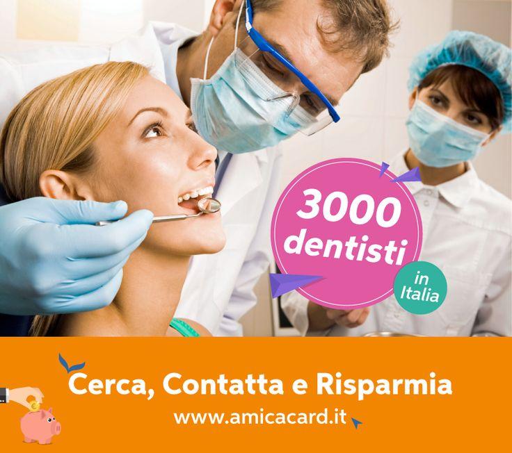 """HAI BISOGNO DELLA PULIZIA DEI DENTI MA HAI PAURA CHE IL DENTISTA """"RIPULISCA"""" IL TUO PORTAFOGLIO? Non temere, su www.AmicaCard.it trovi il dentista più vicino a te con sconti che ti regaleranno un vero sorriso 😁 Cerca ora sulla piattaforma tra oltre 3000 dentisti in Italia e richiedi il tuo appuntamento o preventivo direttamente dal sito, compara i prezzi e risparmia!  #sorriso #igiene #salute #visita #denti #dentista #amicacard #amicacardizzati #sconti #convenzioni #amicacardDentisti"""