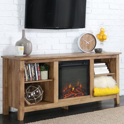 Beachcrest Home TV Stand with Electric Fireplace & Reviews | Wayfair