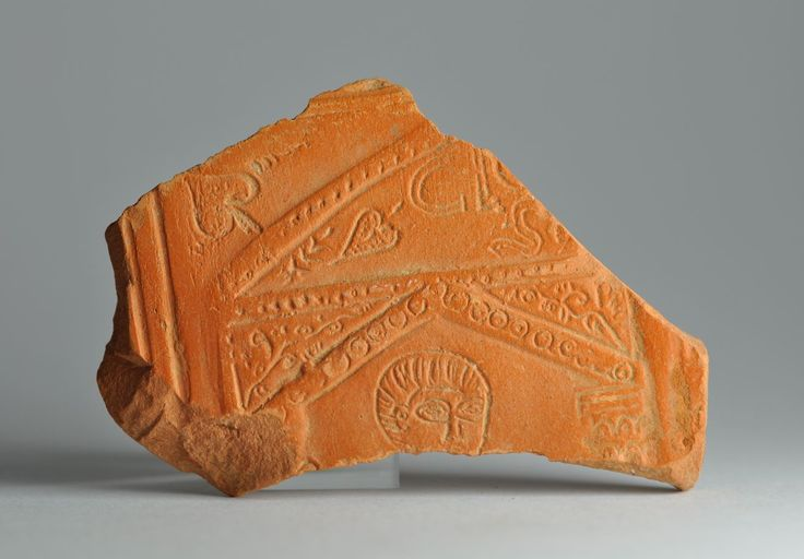 African red slip ware sherd with inscription 5