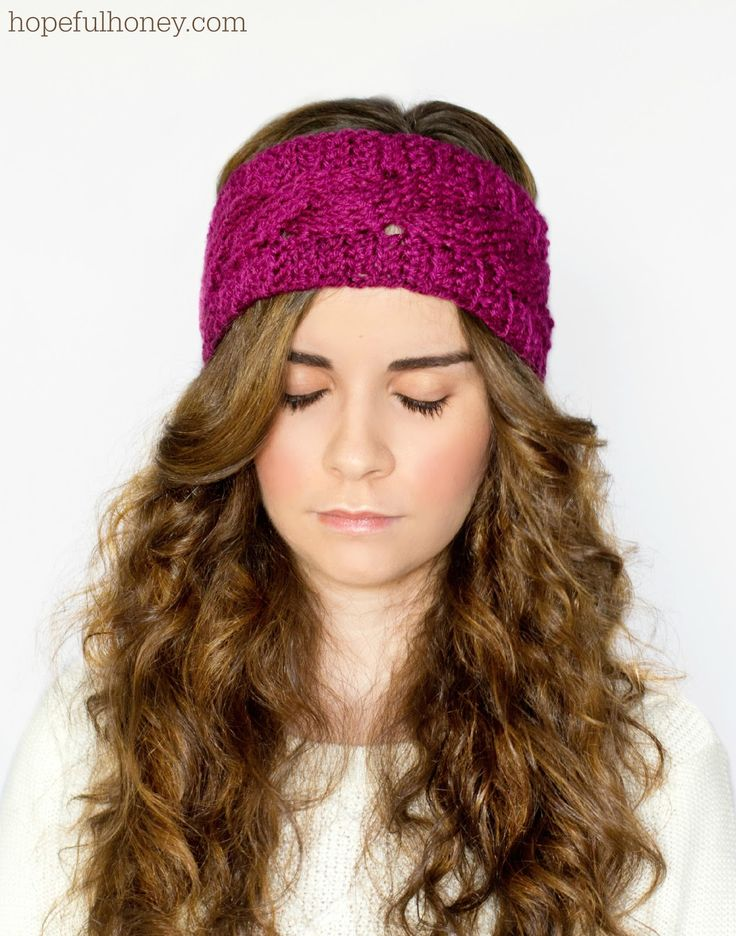 Cabled Earwarmer Crochet Pattern via Hopeful Honey