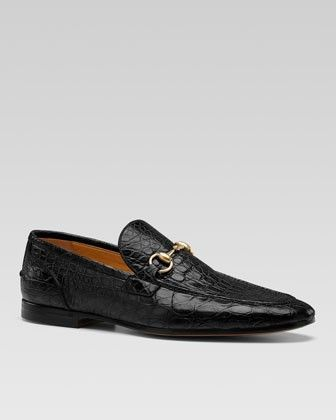 GUCCI - CROCODILE BIT LOAFER...