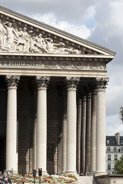 L'église de la Madeleine, Paris Démonstration de la grandeur de l'Empire sous Napoléon. Hommage aux armées victorieuses.