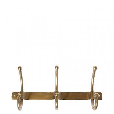 Klädhängare-hängare-3-krok-Kroklist-Mässing-Återvunnen-metall-Lodge